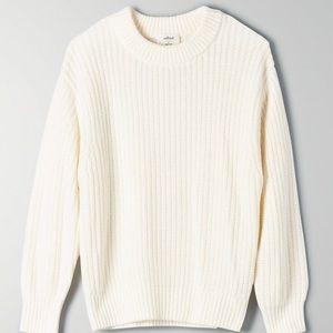 💝Aritzia Wilfred Ivory Cream White Sweater XS